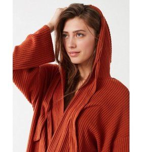Out From Under Open Front Maxi Hoodie Cardigan